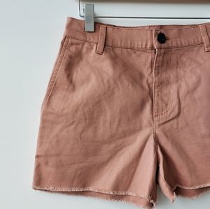 Madewell High-Rise Dusty Rose Shorts in Size 24